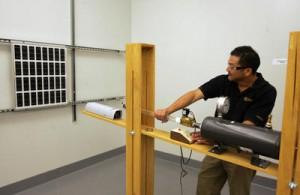 solar panel glass impact test