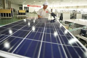The Yingli solar panels factory