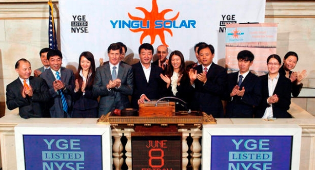 some of the yingli solar panels crew