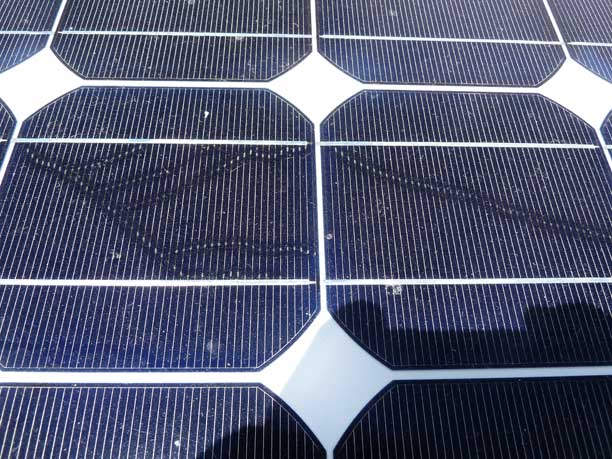 Cheap solar panels defected