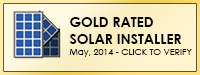 Gold Solar Installer Certification