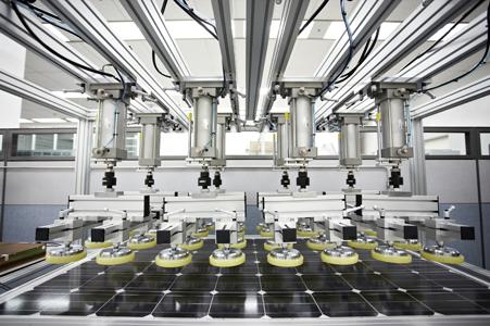 lg solar panels factory test