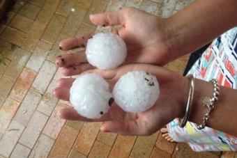 brisbane hail